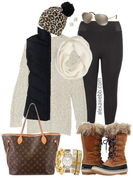 Plus Size Tunic Sweater Outfit - Plus Size Fall Winter Outfit Idea - Plus Size Fashion for Women - alexawebb.com #alexawebb #plussize #outfit
