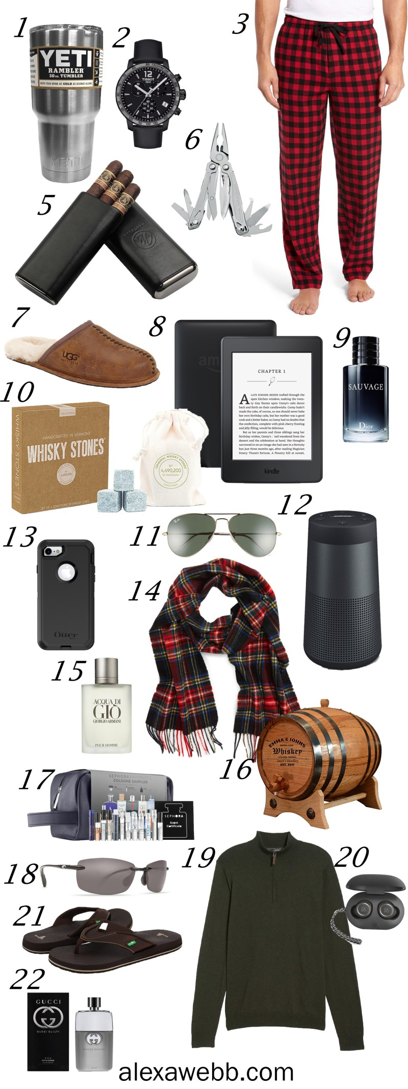 Christmas Gift Ideas for Men - Holiday GIfts - alexawebb.com