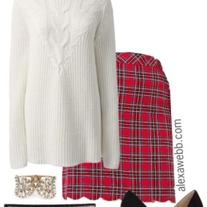 Plus Size Holiday Plaid Outfit - Plus Size Christmas Outfit - Plus Size Fashion for Women - alexawebb.com #alexawebb #plussize