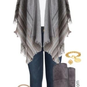 Plus Size Poncho Outfit - Plus Size Winter Casual Outfit - Plus Size Fashion for Women - alexawebb.com #alexawebb #plussize