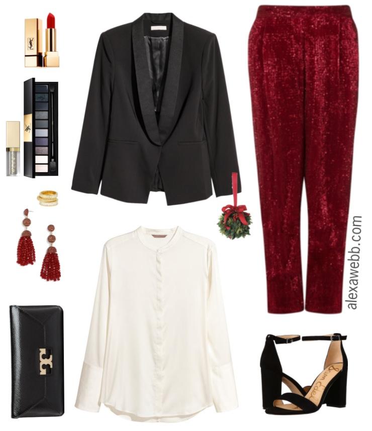 Plus Size Sequin Pants Outfit - Alexa Webb