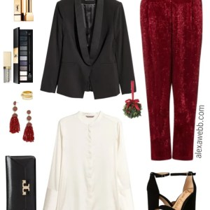 Plus Size Sequin Pants Outfit - Plus Size Holiday NYE Outfit Ideas - Plus Size Fashion for Women - alexawebb.com #alexawebb #plussize