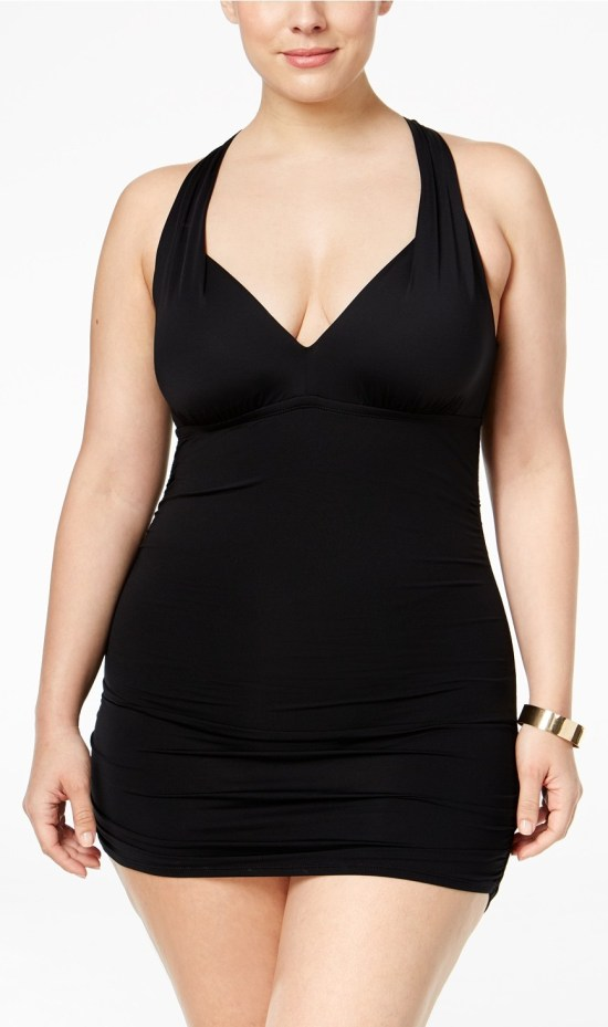 20 Plus Size Black Swimdresses - Plus Size Swimwear - Plus Size Swimsuit - Bathing Suit - alexawebb.com #alexawebb