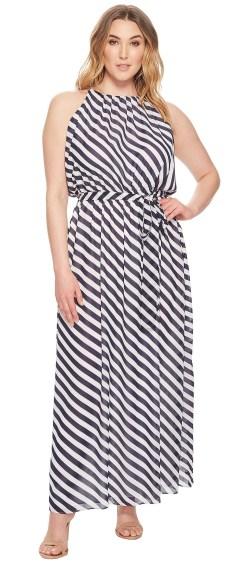 Plus Size Striped Maxi Dress {2 Ways} - Alexa Webb