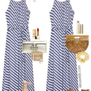 Plus Size Striped Maxi Dress Oufits - Plus Size Maxi Dress - Plus Size Fashion for Women - alexawebb.com #plussize #alexawebb