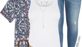 303dba3928b Plus Size Black Jeans Summer Outfit - Alexa Webb
