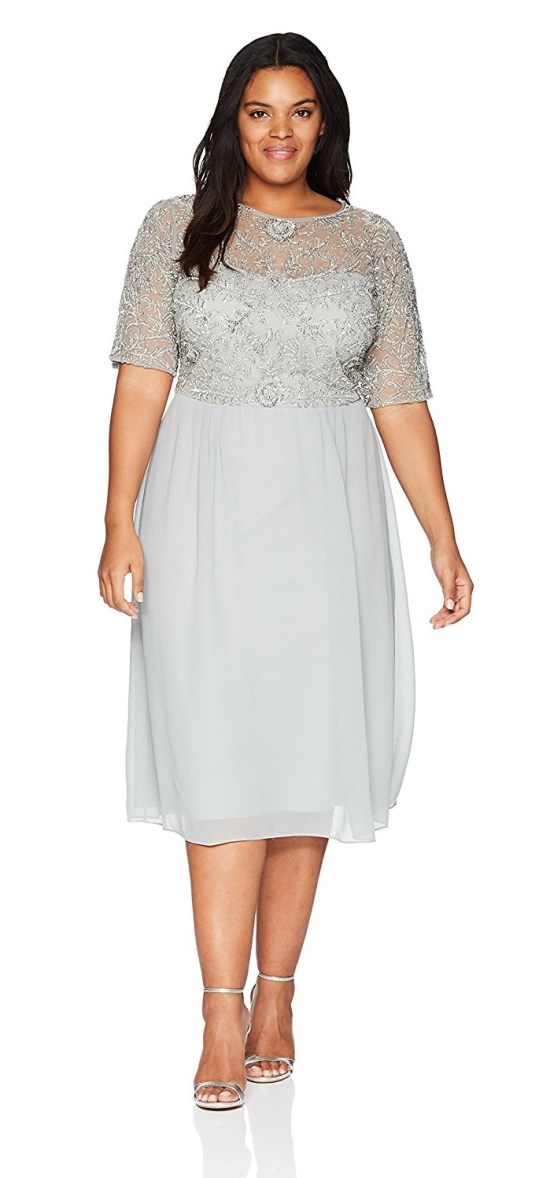 40 Plus Size Spring Wedding Guest Dresses {with Sleeves} - Alexa Webb