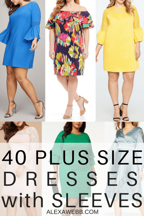 40 Plus Size Spring Wedding Guest Dresses {with Sleeves ...