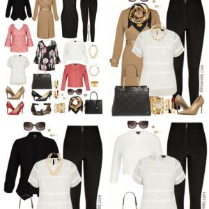 Plus Size Work Capsule Wardrobe -Plus Size Pinstripe Dress Outfit - Plus Size Work Outfit Idea - Plus Size Fashion for Women - alexawebb.com #plussize #alexawebb