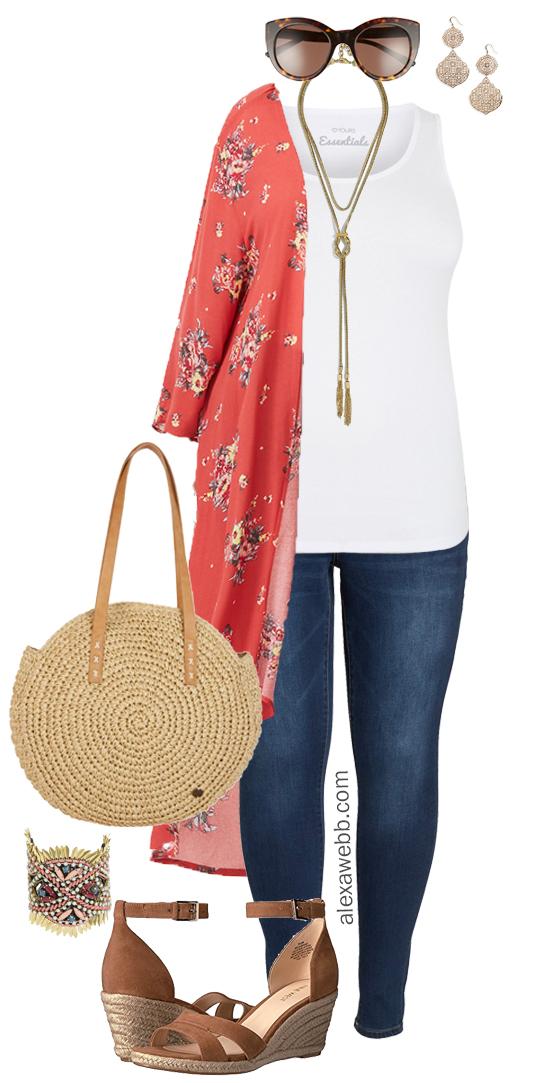 Plus Size Summer Kimono Outfit Alexa Webb