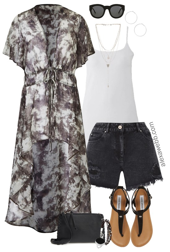 a1fbd3cb728 Plus Size Boho Kimono Outfit - Plus Size Summer Outfit Idea - Plus Size  Fashion for