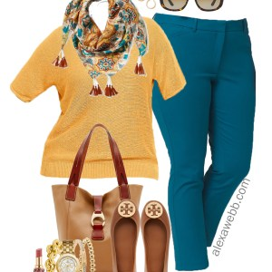 Plus Size Fall Transition Work Outfit - Plus Size Fashion for Women - alexawebb.com #alexawebb #plussize
