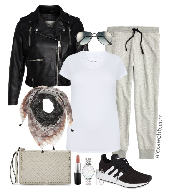 Plus Size Joggers Outfits - Outside-the-Home - Plus Size Outfit for Home - Plus Size Errands Outfit - Plus Size Fashion for Women - alexawebb.com #alexawebb #plussize