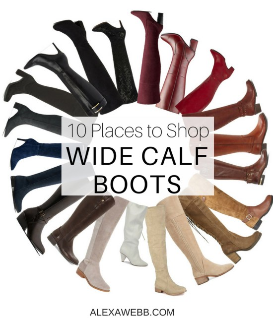 10 Places to Shop Wide Calf Boots - Plus Size Boots - Plus Size Fashion for Women - alexawebb.com #alexawebb #plussize #widecalf