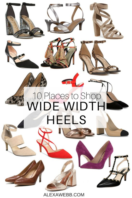 0856f37b1eda 10 Places to Shop Wide Width Shoes - Wide Heels - Plus Size Fashion for  Women