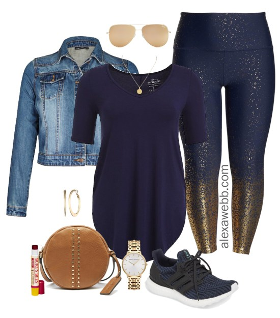 Plus Size Work-From-Home Outfit - Plus Size Casual Outfit Idea - Plus Size Glitter Leggings - Plus Size Fashion for Women - alexawebb.com #plussize #alexawebb