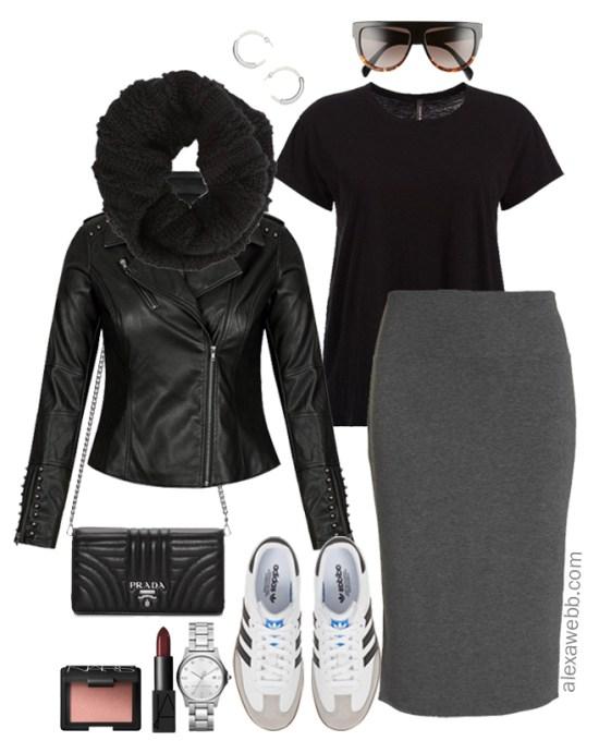 e43d830f761 Plus Size Street Style Outfit - Plus Size Biker Jacket