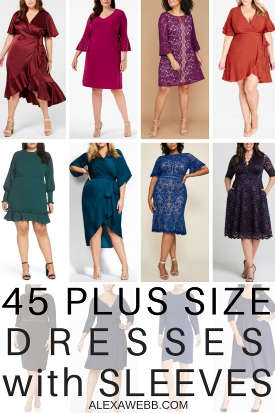 97b96704f37 45 Plus Size Wedding Guest Dresses  with Sleeves  - Alexa Webb