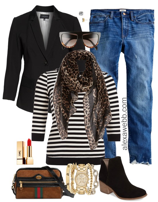 Plus Size Boyfriend Jeans Outfit Ideas - Plus Size Boyfriend Jeans - Plus Size Fall and Winter Outfits - Plus Size Fashion for Women - alexawebb.com #plussize #alexawebb