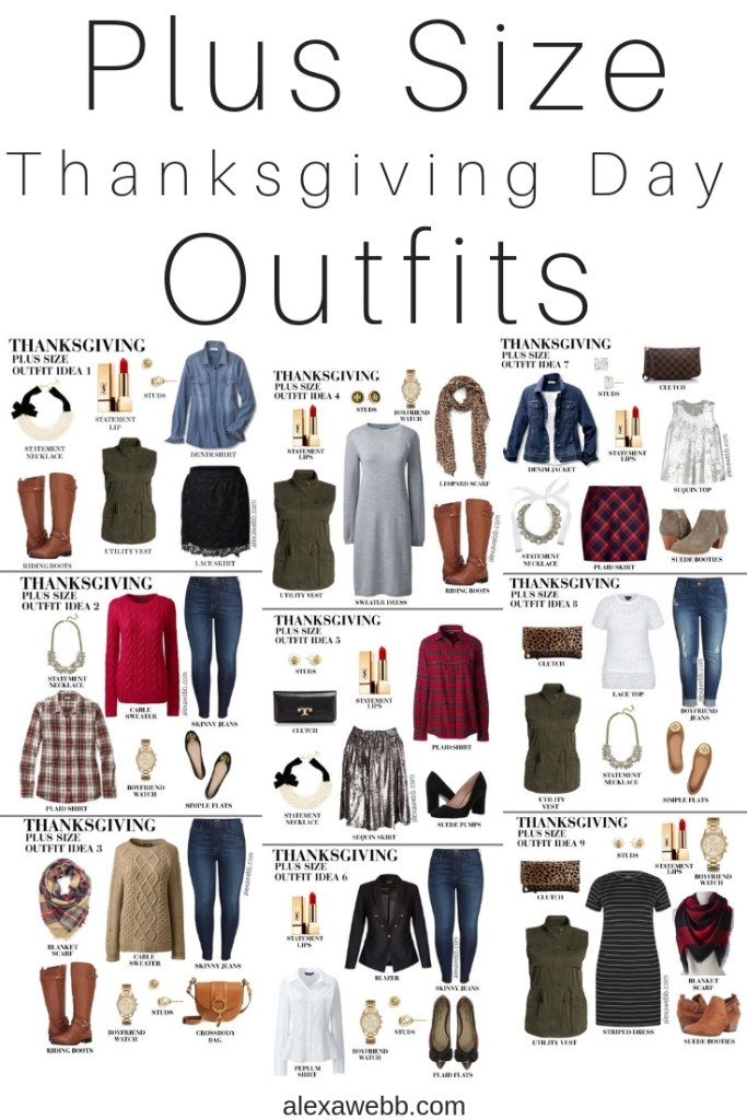 Plus Size Thanksgiving Day Outfit Ideas - Plus Size Casual Fall Outfits - Plus Size Fashion for Women - alexawebb.com #plussize #alexawebb
