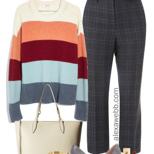 Plus Size Winter Work Outfit - Plus Size Plaid Pants Outfit Idea - Plus Size Fashion for Women - alexawebb.com #plussize #alexawebb