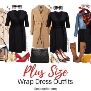 Plus Size Wrap Dress Outfits - Plus Size Fall Winter Outfit Ideas - Plus Size Workwear - Plus Size Fashion for Women - alexawebb.com #plussize #alexawebb