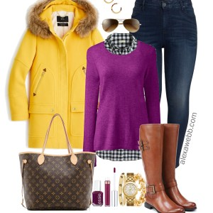 Plus Size Yellow Coat Outfit - Plus Size Winter Outfit Idea - Plus Size Fashion for Women - alexawebb.com #plussize #alexawebb