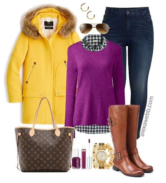 Plus Size Yellow Coat Outfit - Plus Size Winter Outfit Idea - Plus Size Fashion for Women - alexawebb.com #plussize #alexawebb