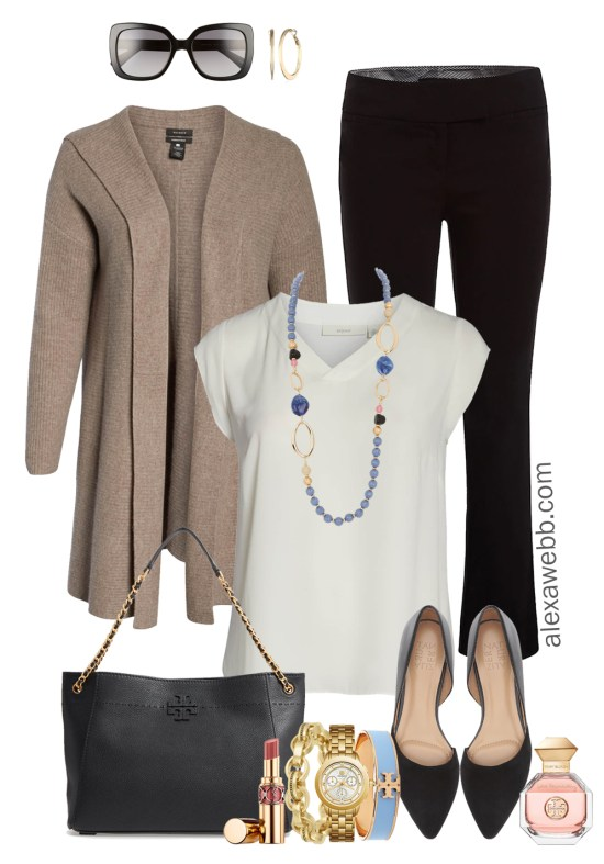 Plus Size Cardigan Work Outfit - Plus Size Workwear - Plus Size Fashion for Women - alexawebb.com #plussize #alexawebb
