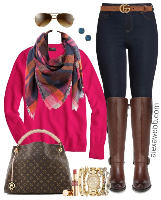 361726faf5eb9 Plus Size Casual Christmas Day Outfit Ideas - Plus Size Jeggings and Boots  - Plus Size
