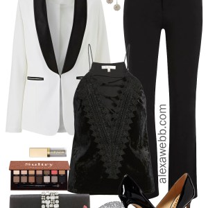Plus Size Tuxedo Jacket Outfits - Plus Size Party Outfit Ideas - Plus Size Fashion for Women - alexawebb.com #alexawebb #plussize