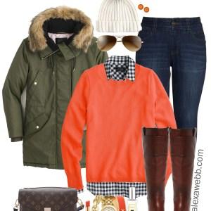 Plus Size Orange Sweater Outfit - Plus Size Winter Outfit Idea - Wide Calf Boots - Plus Size Fashion for Women - alexawebb.com #plussize #alexawebb