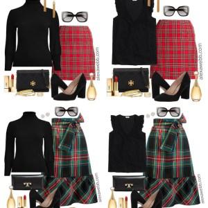Plus Size Plaid Christmas Outfits - Plus Size Holiday Outfit Ideas - Plus Size Fashion for Women - alexawebb.com #plussize #alexawebb