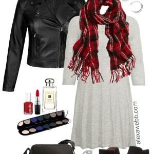 94e0708a4ec3e Plus Size Sweater Dress Outfits - Plus Size Biker Jacket and Booties - Plus  Size Fashion