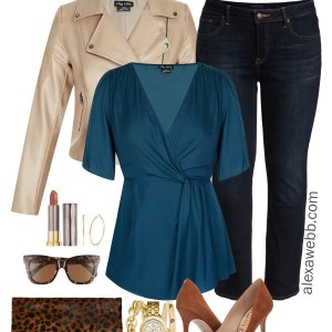 Plus Size Teal Top - Two Ways - Plus Size Casual Day Outfit - Plus Size Fashion for Women - alexawebb.com #plussize #alexawebb