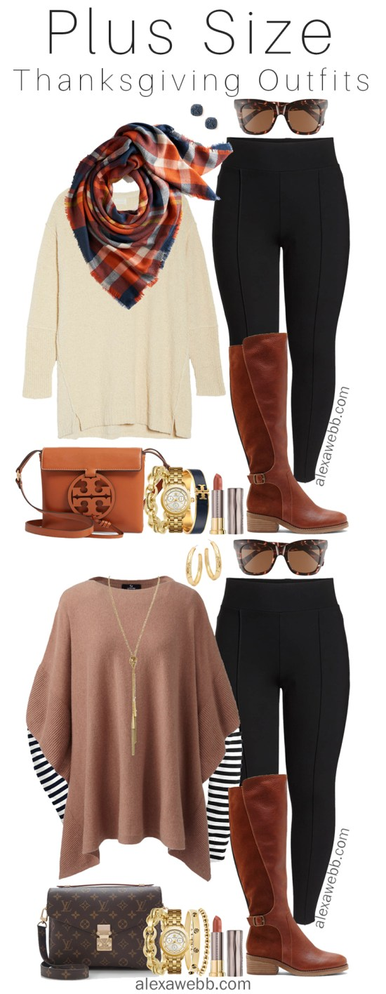 Plus Size Thanksgiving Outfits - Part 1 - Plus Size Fall Casual Outfit Ideas - Plus Size Fashion for Women - alexawebb.com #plussize #alexawebb