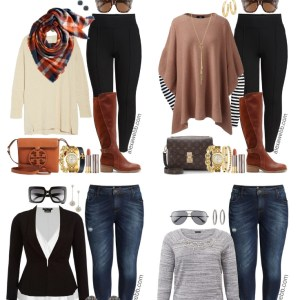 68010a2eecd92 Plus Size Thanksgiving Outfits – Peplum Blazer and Boyfriend Jeans - Plus  Size Fashion for Women