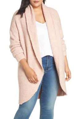 Plus Size Blush Pink Cardigan - Plus Size Fashion for Women - alexawebb.com #plussize #alexawebb