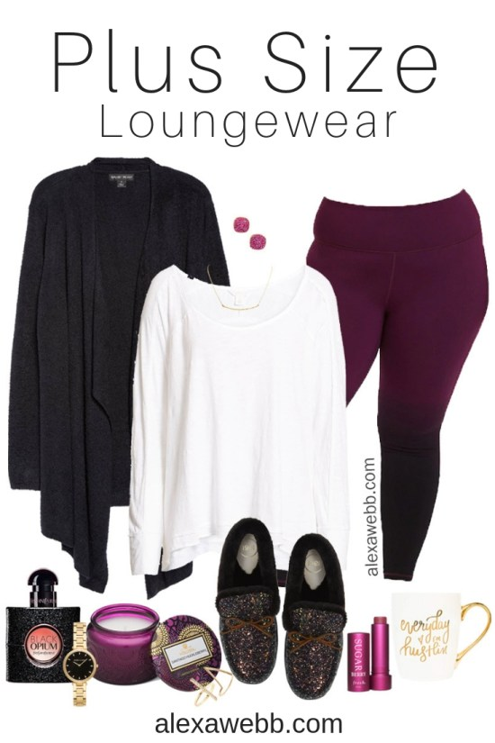 Plus Size Winter Lounge Wear - Plus Size Ombre Leggings - Plus Size Fashion for Women - Alexa Webb - alexawebb.com #plussize #alexawebb