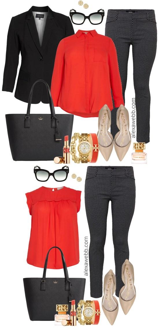76f4c7509b9 Plus Size Work Outfits - Black   White Pants - Alexa Webb