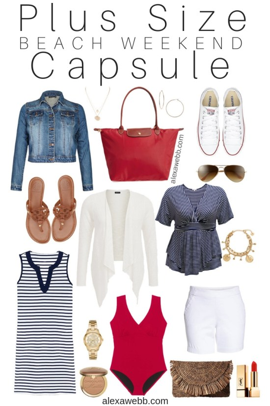 e651d254b7 Plus Size Beach Weekend Capsule - Plus Size Vacation Packing List - Plus  Size Fashion for