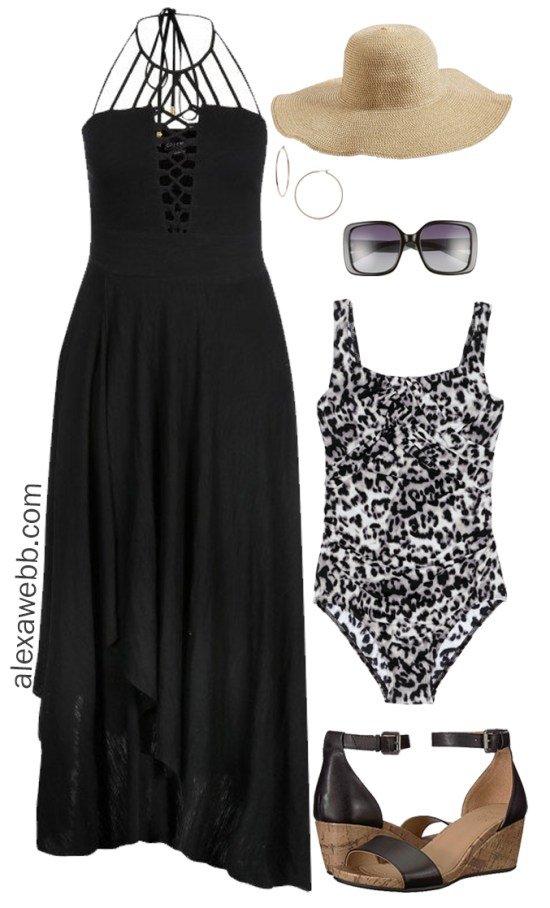 Plus Size Cruise Collection - Plus Size Swim Cover-Ups 2 Ways - Plus Size Fashion for Women - Alexa Webb - alexawebb.com #plussize #alexawebb