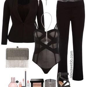 Plus Size Valentine's Date Night Outfit -Sexy Suit - Plus Size Fashion for Women - alexawebb.com #plussize #alexawebb