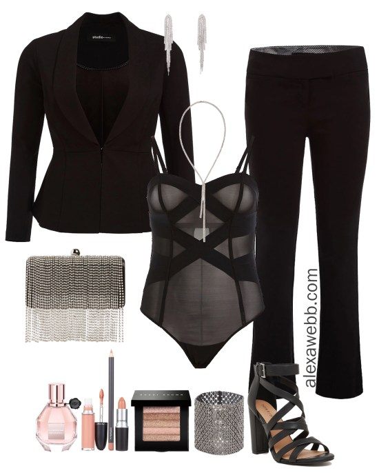 Plus Size Valentine's Date Night Outfit - Sexy Suit - Plus Size Fashion for Women - alexawebb.com #plussize #alexawebb