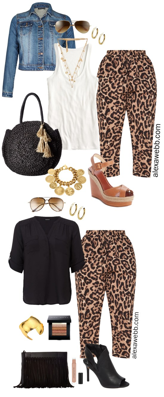 Plus Size Leopard Pants Outfit Ideas - Date Night & Casual Looks - Plus Size Fashion for Women - alexawebb.com #plussize #alexawebb