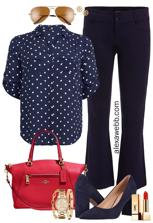 Plus Size Navy Blue Work Outfits - Plus Size Workwear - Plus Size Fashion for Women - alexawebb.com #plussize #alexawebb