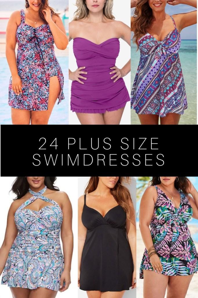 24 Plus Size Swimdresses - Alexa Webb