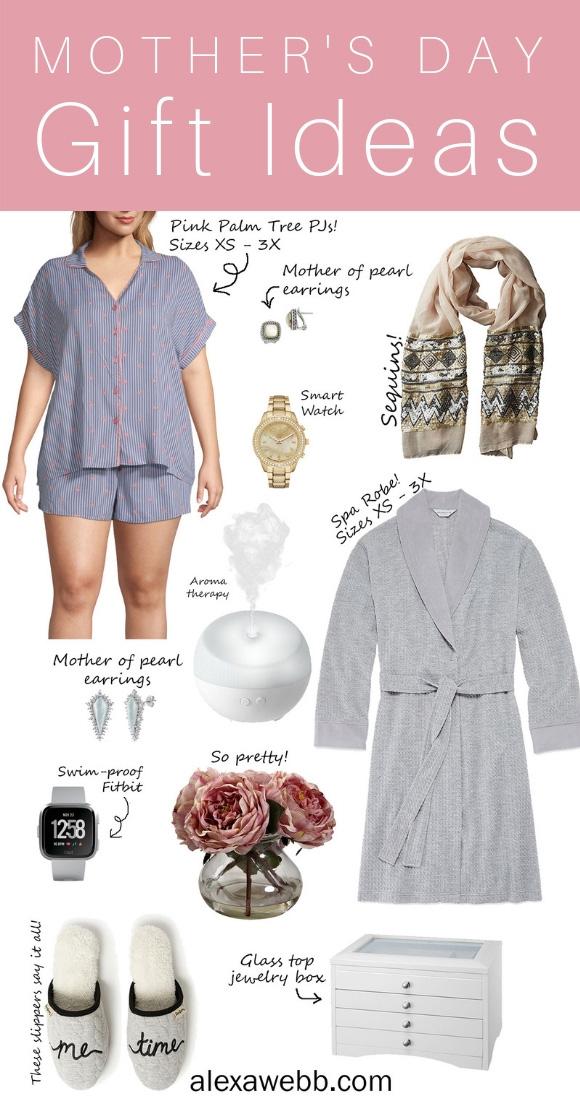 Mother's Day Gift Ideas - Sleepwear in Sizes XS - 3X - Gifts for Moms - alexawebb.com #alexawebb