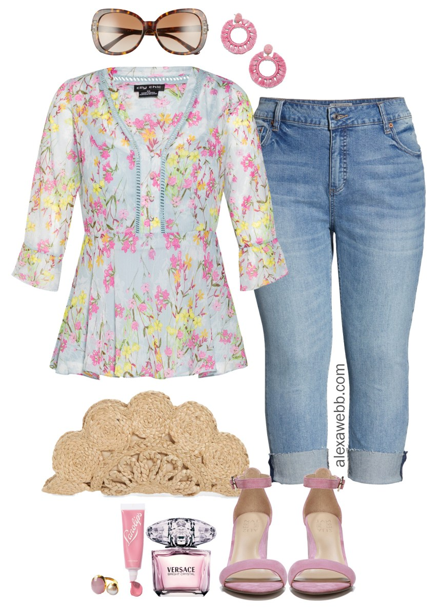 Plus Size Floral Top Outfit