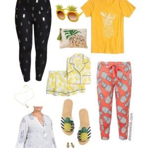 Plus Size Pineapple Trend - Pineapple Leggings and Pajamas - alexawebb.com #plussize #alexawebb